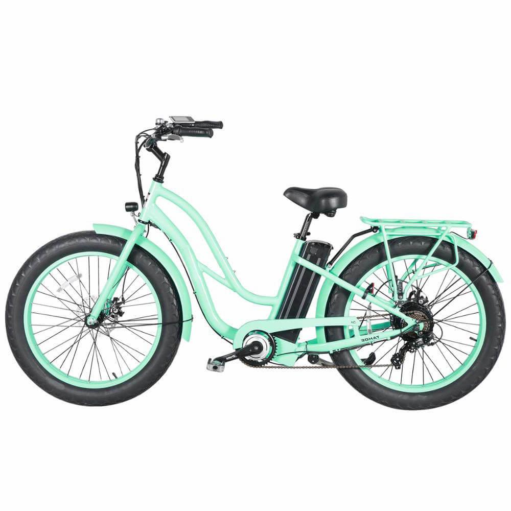 بيتش كروزر نوع 26 '' فات الدراجة الإلكترونية للنساء نموذج أخضر 4