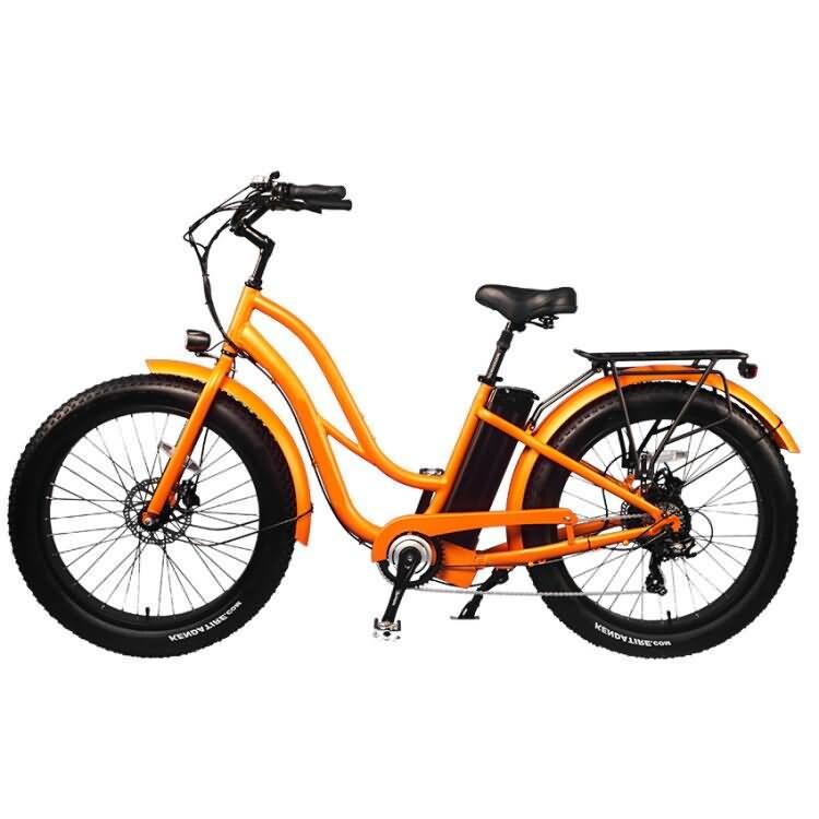 Beach Cruiser النوع 26 '' Fat E-bike للنساء موديل