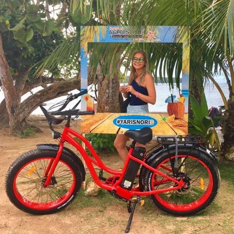 Beach Cruiser نوع 26 '' Fat E-bike للنساء موديل muse 2
